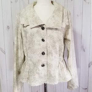 A.M.I Funky Spotted Collared Button Jacket XL